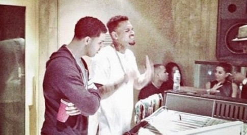 drake-chris-brown-together-in-the-studio-550x300